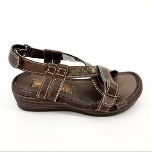 Carters Little Girl's 9 Brown/Gold Wedge Sandals